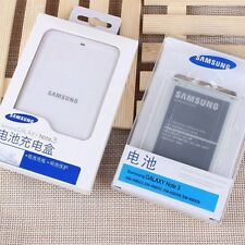 Genuine Battery + Cradle Dock Charger for Samsung GALAXY NOTE 3 N9000 n9005 New