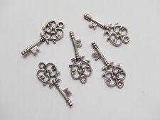 7pz charms ciondoli chiave colore argento tibet 33x14mm,lead,nickel free