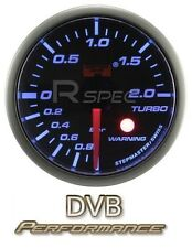 Coche 52mm Ahumado Azul 52mm motor paso a paso Boost Gauge Bar con advertencia