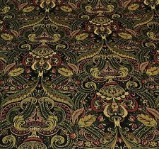 "MILL CREEK MINERVA OTTOMAN MIDNIGHT FLORAL FURNITURE FABRIC 1.5 YARDS 54""W"