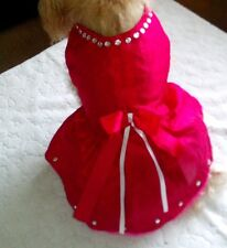 RED  AND  PINK  DOG'S ,PUPPY MINI  DRESS  FOR  PUDDLE  AND  SMALL  DOG'S