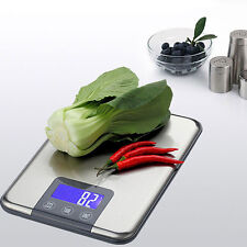 Slim Stainless Steel 11lb x 0.05oz Digital Kitchen Scale for Food Shipping Craft