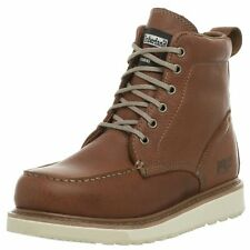 """Timberland PRO Mens 53009 Wedge Sole 6"""" Soft-Toe Boot Rust 9 W"""