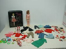 1965 IDEAL TAMMY DOLL with EVENING IN PARIS CASE & TAGGED CLOTHES & MORE