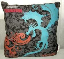 Cool How to Train Your Dragon Pillow, Gray/Black/Blue Design, Glows in Dark