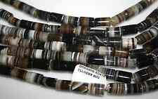 Botswana agate gemstone Cylinder Beads 8x14mm to 9x12 on one strand