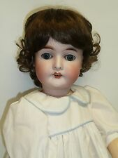 "Sweet 25"" Antique A&M Queen Louise German Bisque Doll w/Blue Eyes"