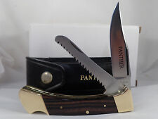 COMPASS INDUSTRIES PANTHER Hi-Stainless 2 Blade  with Saw Hunter Knife