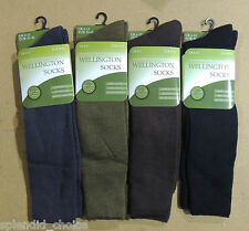 3 x PAIRS MENS WELLIE WELLINGTON BOOT SOCKS SIZE 6-11