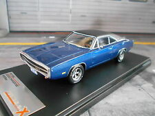 DODGE Charger 500 Coupe US muscle car v8 BLUE BLU 1970 Ixo PREMIUM X SP 1:43
