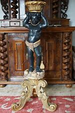 18th Century Venetian Blackamoor Wood Carved Figure