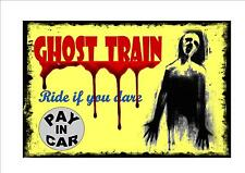 Ghost Train Vintage Style Metal Sign Kitchen  Vintage Fairground Sign