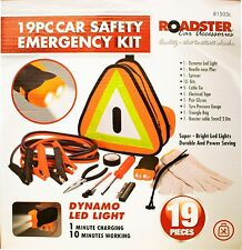 19PC CAR SAFETY EMERGENCY KIT BREAKDOWN KIT EURO KIT VEHICLE KIT CAR VAN  81503c
