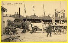 cpa Rare ANVERS Le TRAVAIL au PORT Métier Dockers ANTWERPEN Werken aan de Haven