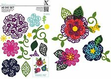DOCRAFTS XCUT A5 DIE SET FILIGREE LAYERED FLOWERS - 17 DIE SET NEW 2016