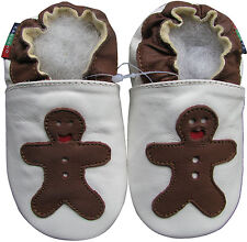 shoeszoo gingerbread white 12-18m S soft sole leather baby shoes
