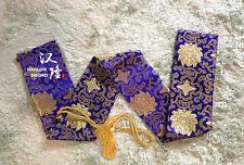 Blue flowers Pattern Japanese Samurai Swords Katana  Soft Silk Sword Bag