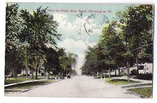 Illinois postcard Bloomington View on North Main Street ca 1908