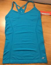New Balance Women's Large Workout Running Exercise Racerback Tank Top Blue NWT