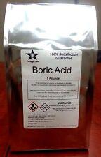 Boric Acid (Orthoboric Acid, Boracic Acid) 5 Lb Pack
