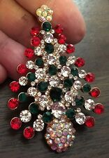 """Prettiest Christmas Tree Brooch / Pin. I Have Ever Seen ! 3x2"""""""