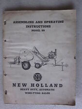 1961 New Holland Model 80 Heavy Duty Automatic Wire Tying Baler manual