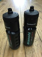 RARE - NEW Bianchi Water Bottle Set - (1) Pair - Black - Large
