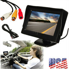 New 4.3 Inch LCD TFT Rearview Rear view Monitor screen for Car Backup Camera TO