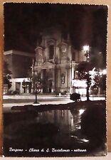 Bergamo - chiesa di S.Bartolomeo - notturno [grande, b/n, viaggiata]