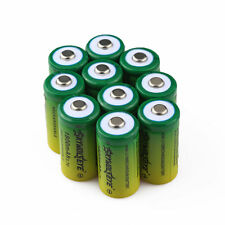 10pcs SKYWOLFEYE 16340 CR123A LR123A 3.7V 1800mAh Rechargeable Li-Ion Battery