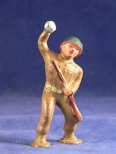 Barclay Lead Figure- #938 Bomb Thrower Soldier - Pod Foot Line- Train Layouts