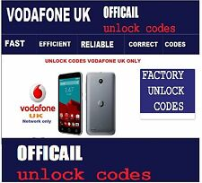 Vodafone UK Vodafone Smart ultra 7 Smart prime 7 Unlock Codes Vodafone UK only