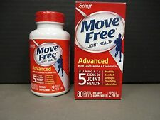 2 SCHIFF Move Free Joint ADVANCED GLUCOSAMINE CHONDROITIN 2x80ct 2/17+ DE 6058