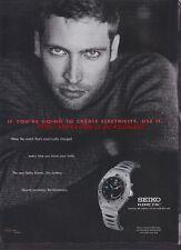 Seiko Kinetic Watch 1999 Magazine Advert #3000