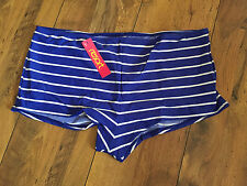 Blue Nautical Stripe swim shorts - PLUS SIZE 26-28 - BNWT - beach/swim -FREE P&P
