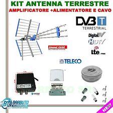 KIT INSTALLAZIONE DIGITALE TERRESTRE HD ANTENNA TRIPLA+IMPIANTO COMPLETO TV