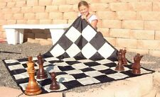 "MegaChess Large Nylon Chess/Checkers Board with 7"" Squares  Outdoor Chess"