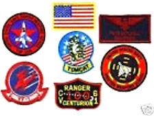 FANCY DRESS PARTY HALLOWEEN COSTUME TOP GUN MAVERICK FLIGHT SUIT 7-PATCH SET