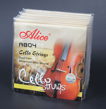 5 Sets Alice A804 Steel Core Aluminum Alloy Wound 1/2 4/4 Size Cello Strings