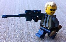 James Bond 007 figura construido usando piezas originales de Lego Personalizado Metálico Pistola C