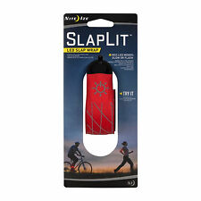 Nite Ize SlapLit LED Slap Wrap Red Reflective Safety Light Bracelet for Running