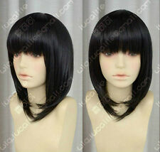 Misaki Mei Short Black Hanekawa Tsubasa Animation Collection Cosplay Wig Hair