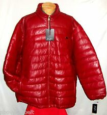 **NEW  M * SEAN JOHN RED LEATHER WINTER PUFFER Jacket/Coat**$495***NEW w/TAGS