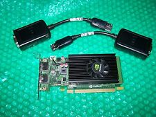 Nvidia NVS 310 512MB PCIe x16 LP Dual Monitor Graphics Card + Adapter Cables