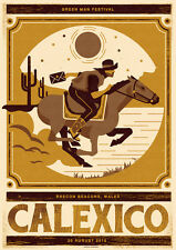 CALEXICO GREEN MAN FESTIVAL GIG POSTER LIMITED EDITION SCREEN PRINT TELEGRAMME
