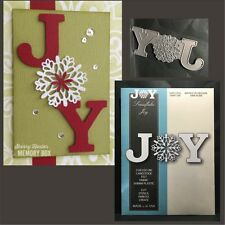 SNOWFLAKE JOY metal die - Memory Box dies 99596 Christmas,word,phrases,holidays
