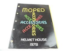 Vintage 1978 Moped Accessories Catalog And Price List Helmets Motorcycle L2233