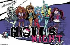 MATTEL MONSTER HIGH GHOULS NIGHT OUT POSTER NEW 34x22 FREE FAST SHIPPING