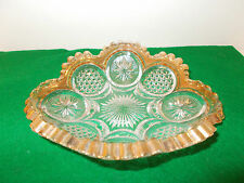 Vintage  Glass Candy Dish with Gold Trim, Attractive