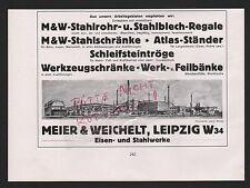 LEIPZIG, Werbung 1935, Meier & Weichelt Eisen-Stahlwerke Werkzeug-Schränke